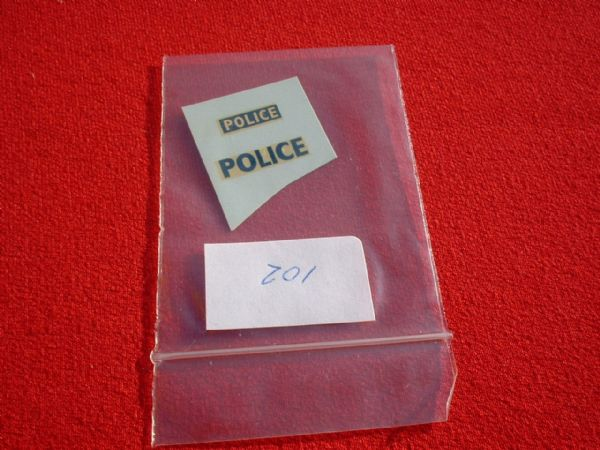 "Corgi Toys 419A FORD ZEPHYR MOTORWAY ""POLICE"" TRANSFERS / DECALS"